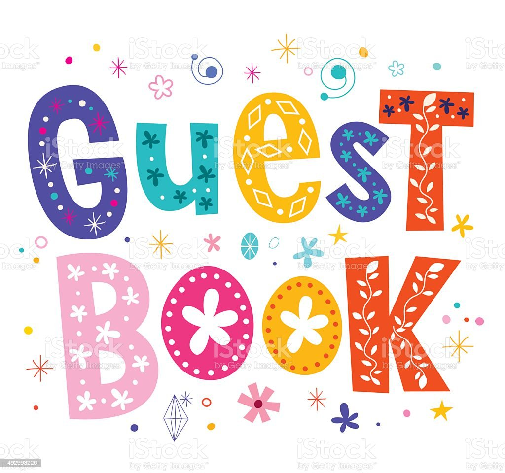 Guest book vector art illustration