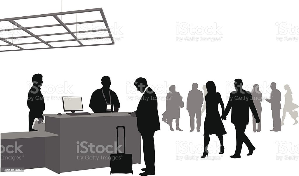 GuestServices vector art illustration