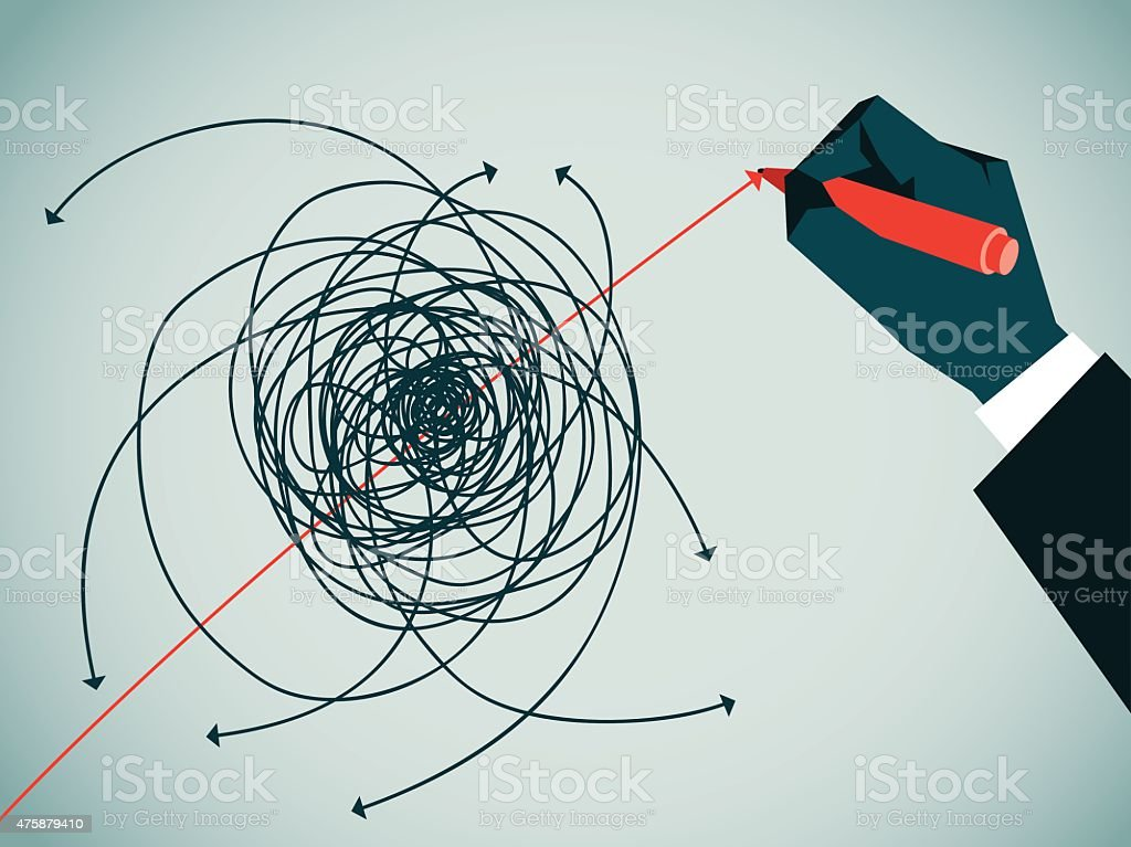 Guidance vector art illustration