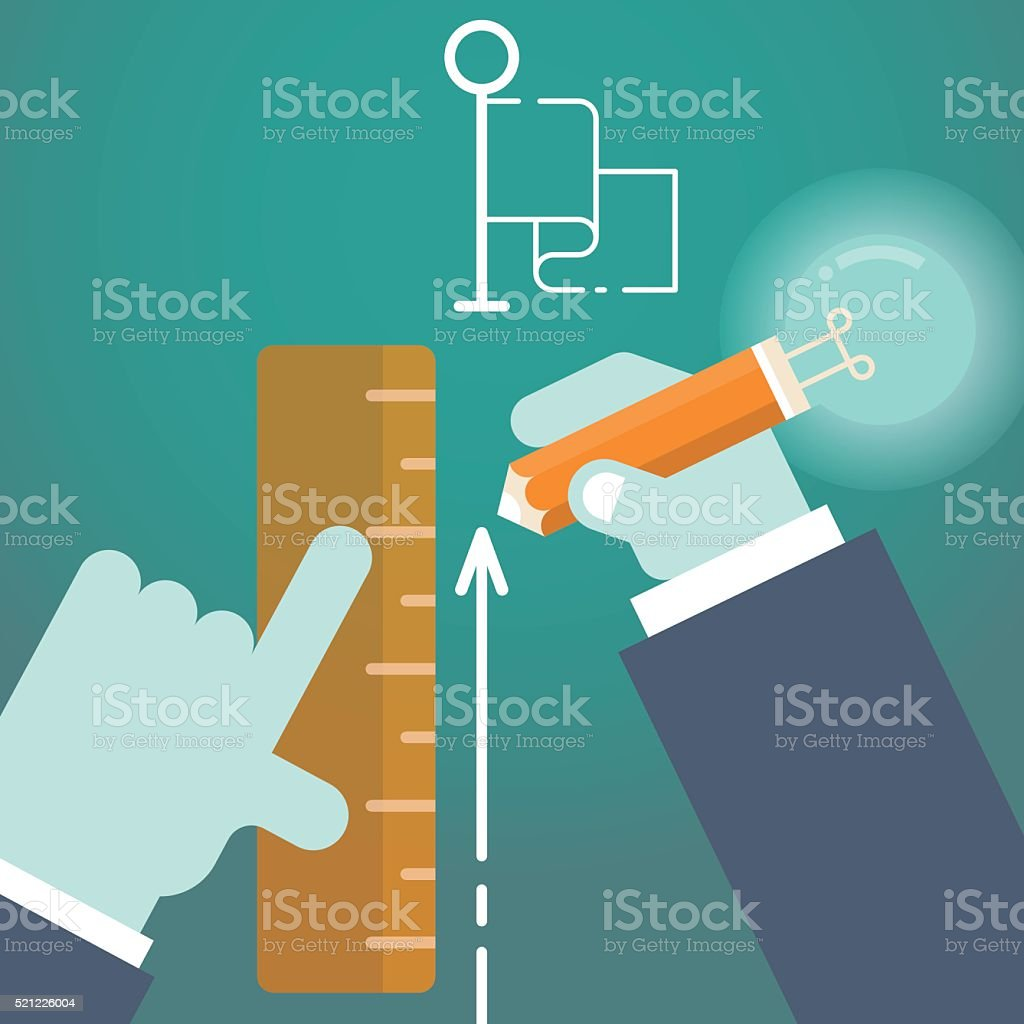 guide to success vector art illustration