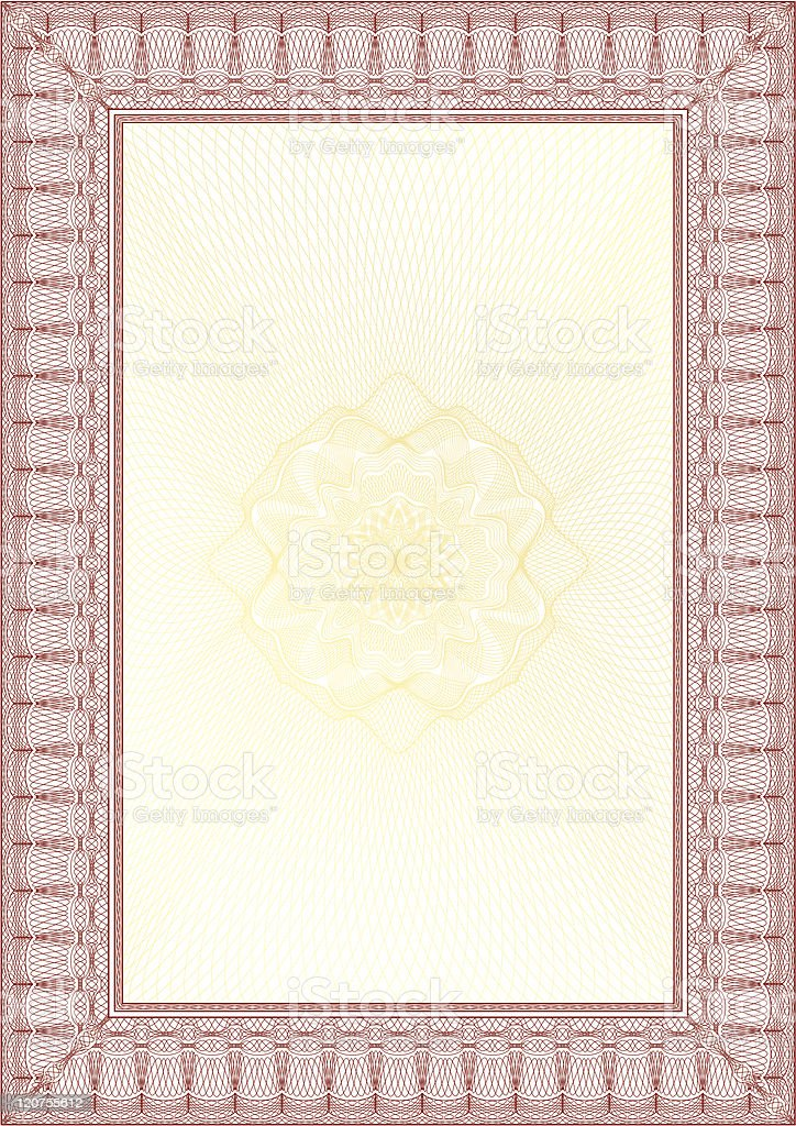 guilloche border for diploma or certificate with protective ornament royalty-free stock vector art