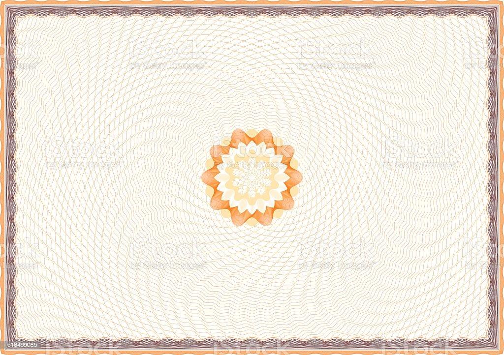Guilloche Certificate Template vector art illustration