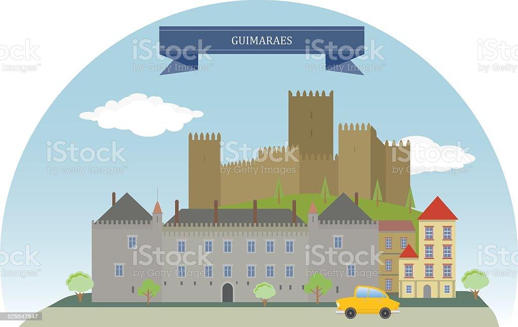 Guimaraes, Portugal vector art illustration