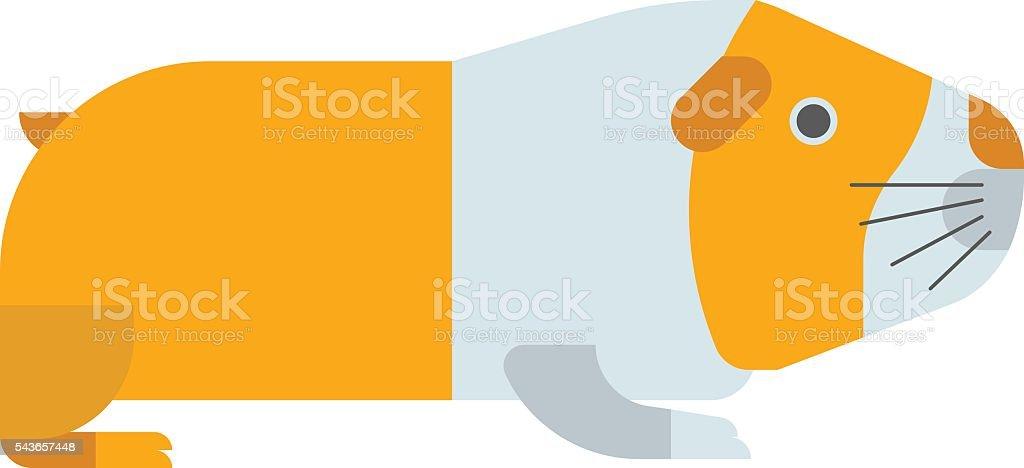 Guinea pig vector illustration. vector art illustration