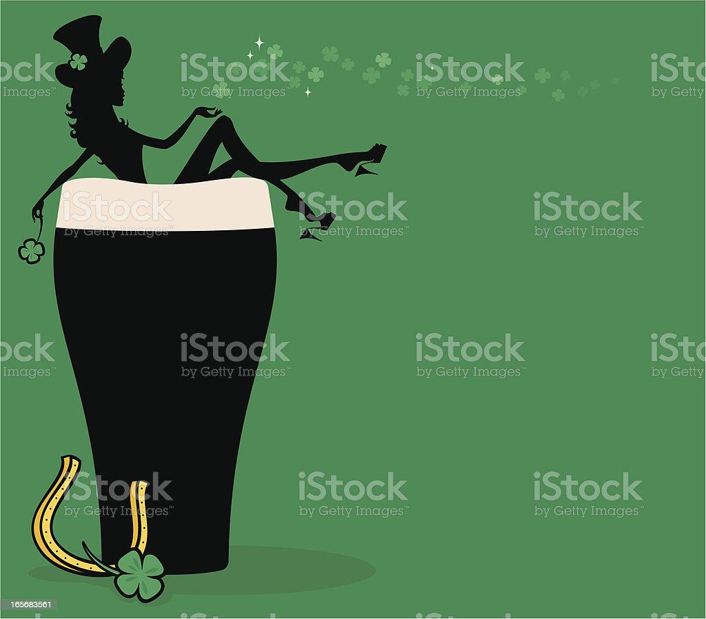 Guinness Girl vector art illustration