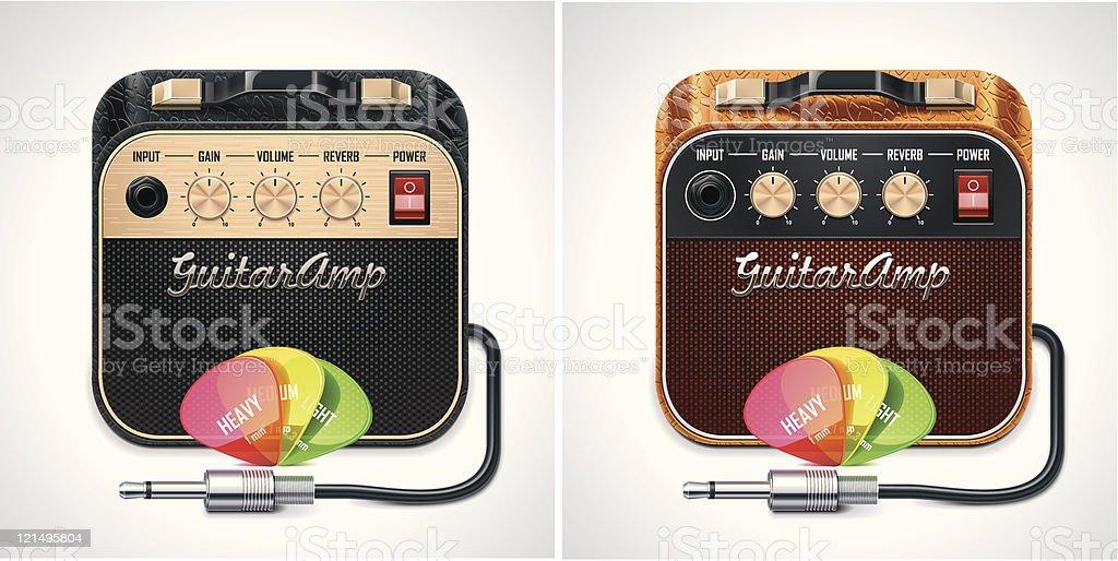 Guitar amplifier XXL icon royalty-free stock vector art