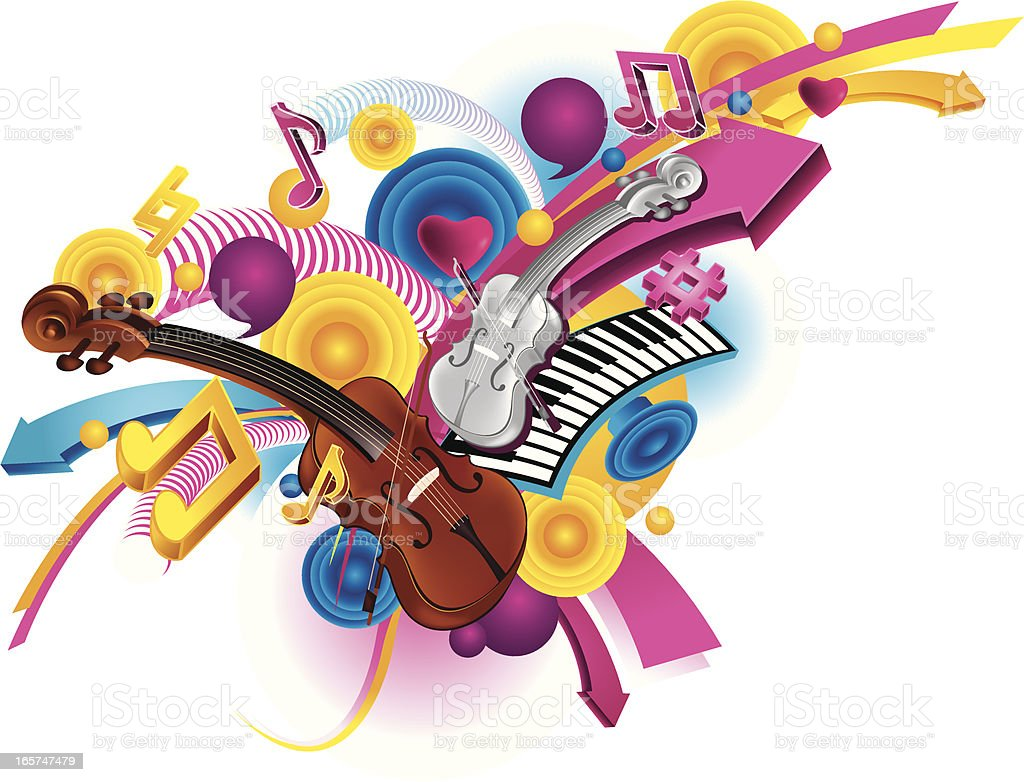 guitar background royalty-free stock vector art