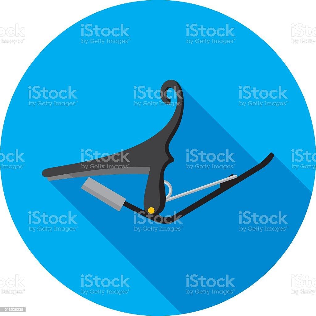 Guitar Capo Icon Flat vector art illustration