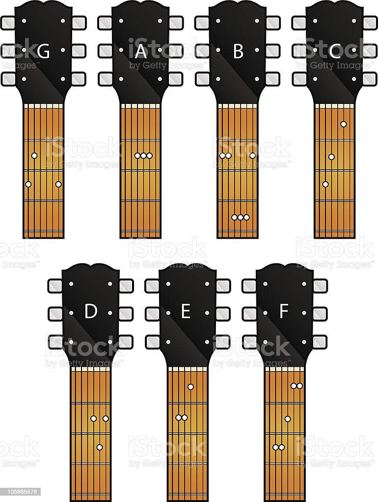 guitar chords royalty-free stock vector art