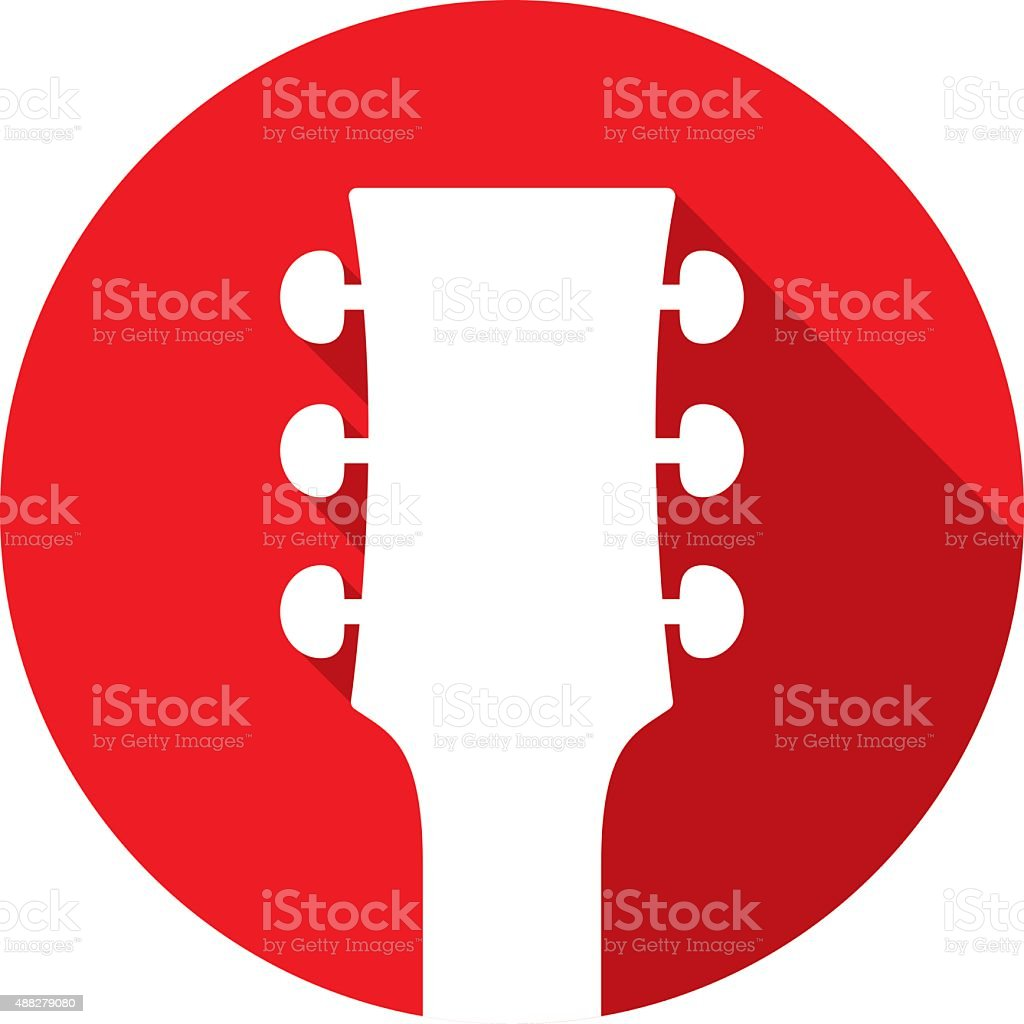 Guitar Head Icon Silhouette vector art illustration