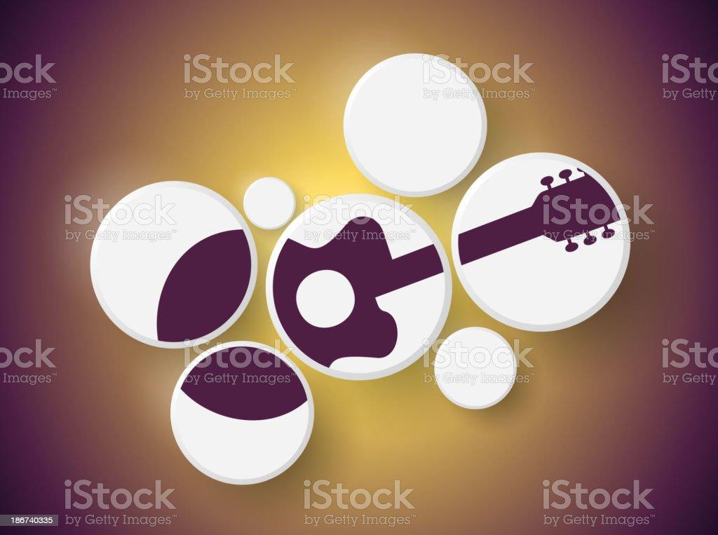 Guitar in circles royalty-free stock vector art