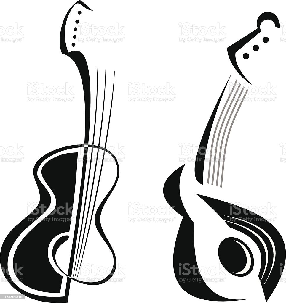Guitar - isolated vector icon vector art illustration