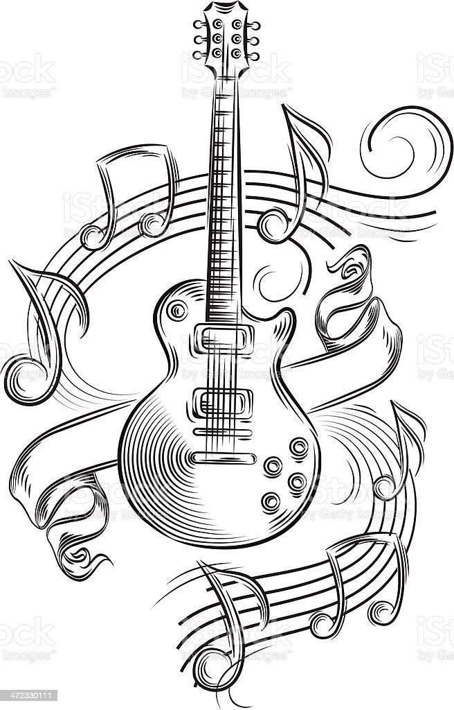 Guitar Notes Stock Vector Art 472330111