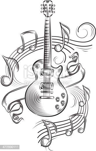 guitar notes stock vector art 472330111