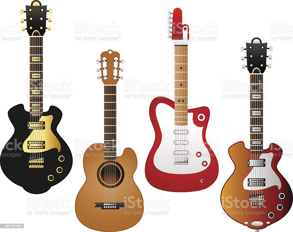 guitar series 2 royalty-free stock vector art
