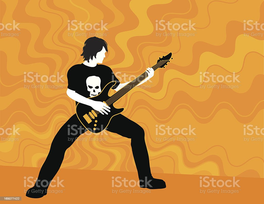 Guitar vector art illustration
