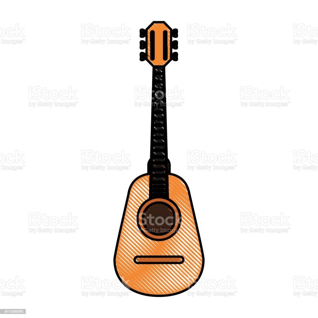 guitar vector illustration vector art illustration