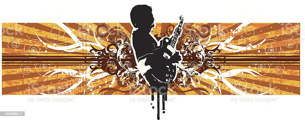 Guitarist design. royalty-free stock vector art