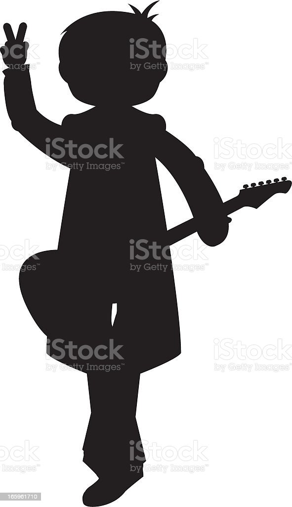 Guitarist in Silhouette royalty-free stock vector art
