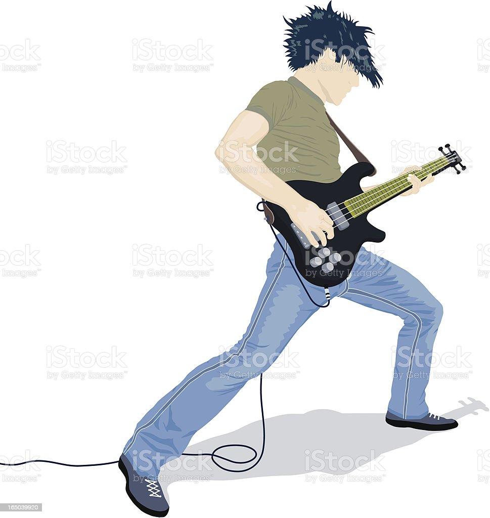 Guitarist Rocks royalty-free stock vector art