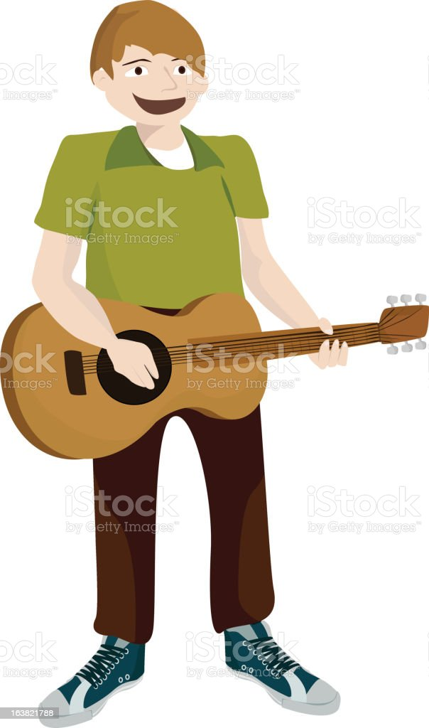 guitarist royalty-free stock vector art