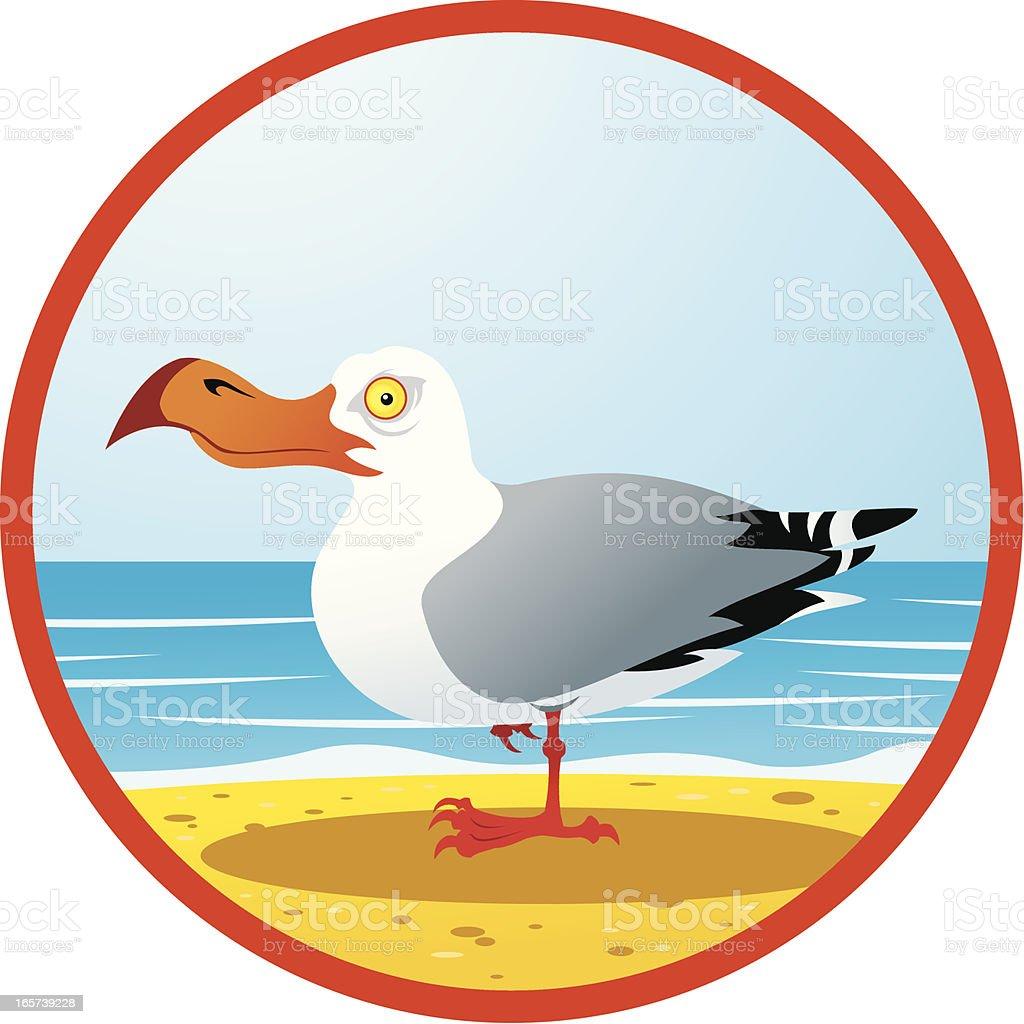 Gull royalty-free stock vector art