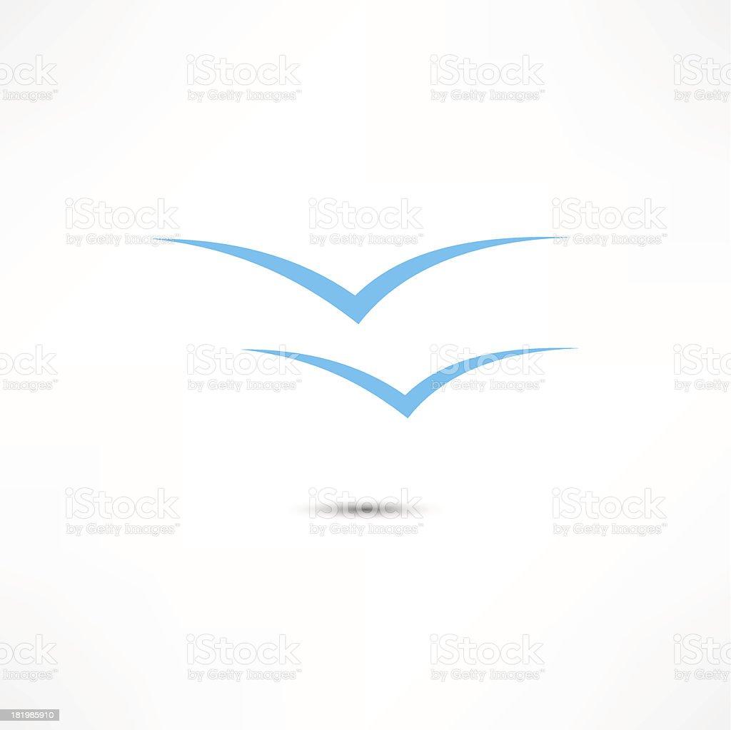 Gulls Icon vector art illustration