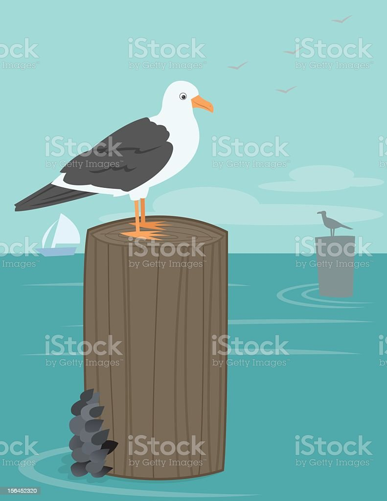 Gulls royalty-free stock vector art