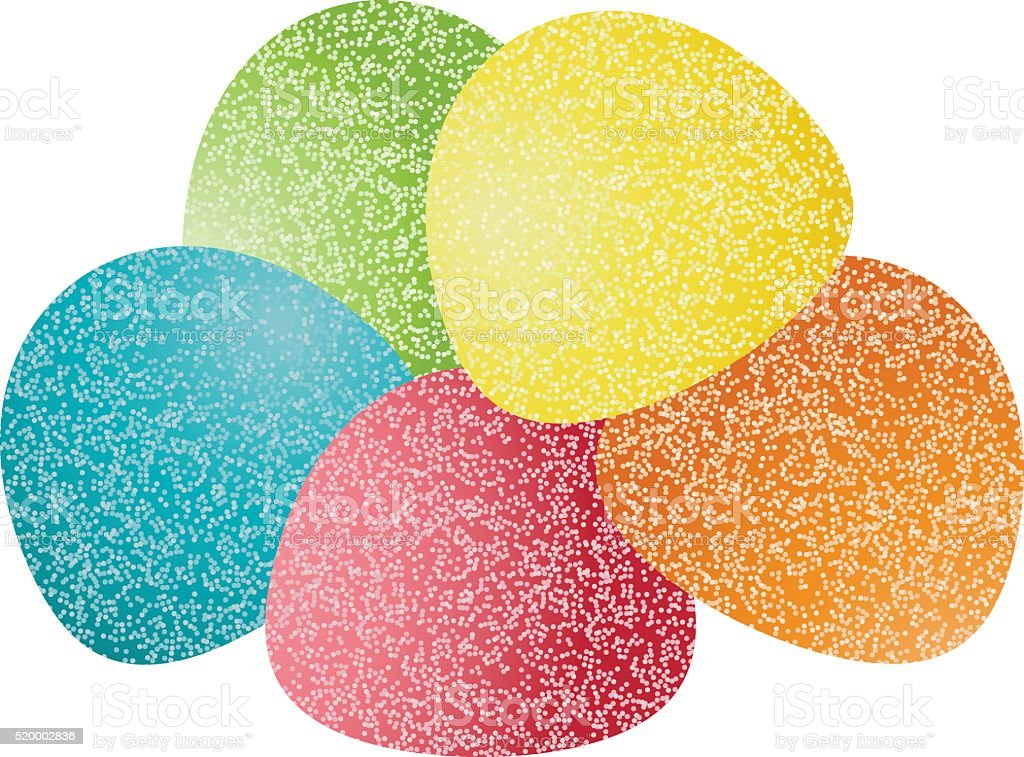 Gumdrops Candy vector art illustration