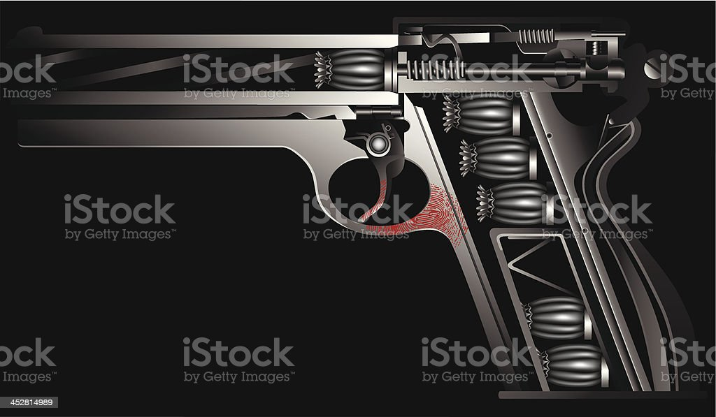 gun against drugs royalty-free stock vector art