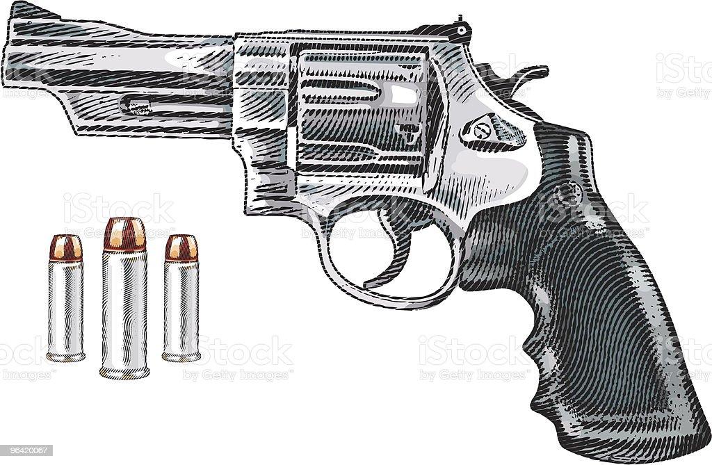 Gun and Bullets vector art illustration