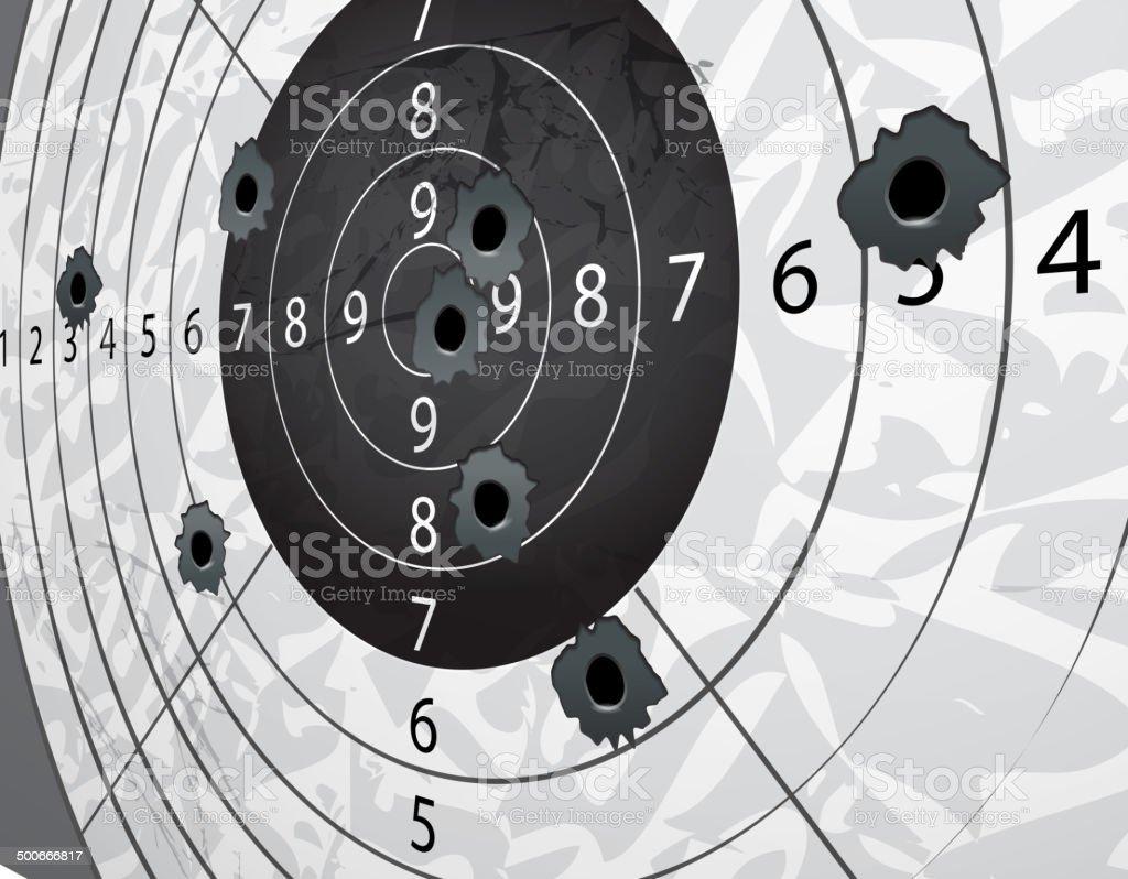 Gun bullet`s holes vector art illustration