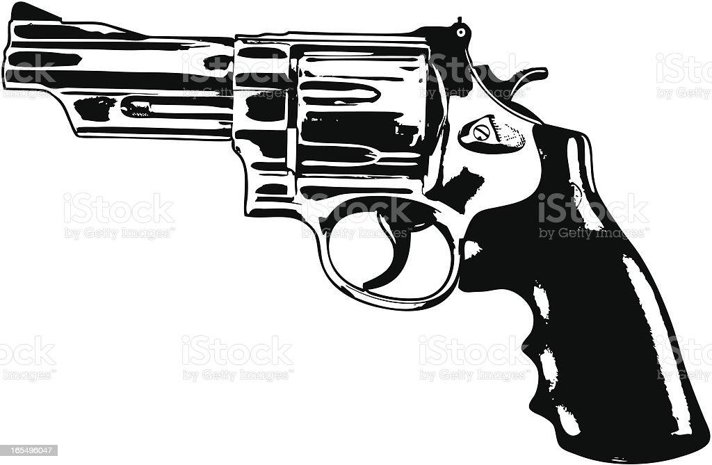 Gun Design Element vector art illustration