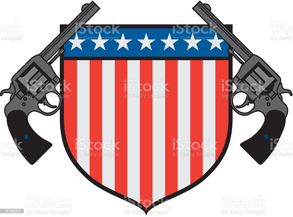 USA Gun Emblem royalty-free stock vector art