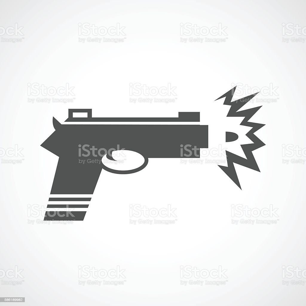 gun icon shot vector art illustration