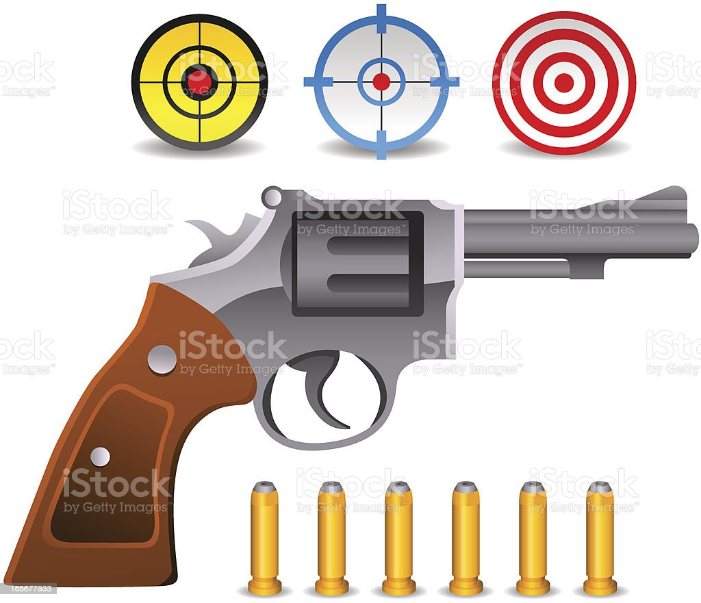 Gun Set royalty-free stock vector art