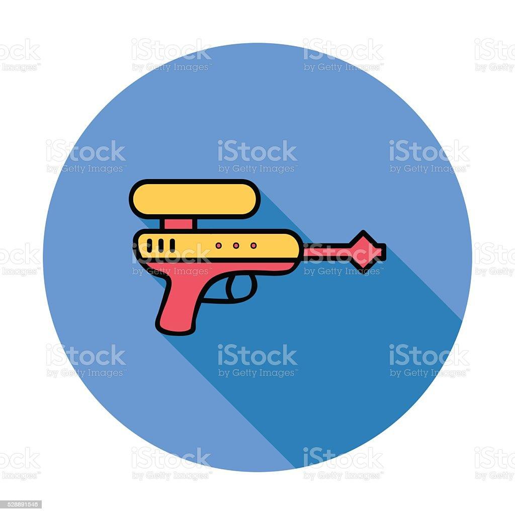 Gun toy vector art illustration