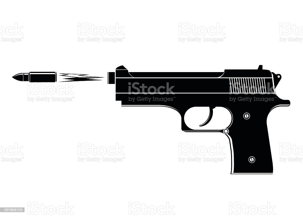 gun. vector art illustration