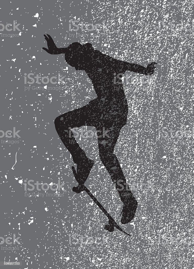 Gunge Skateboarder vector art illustration