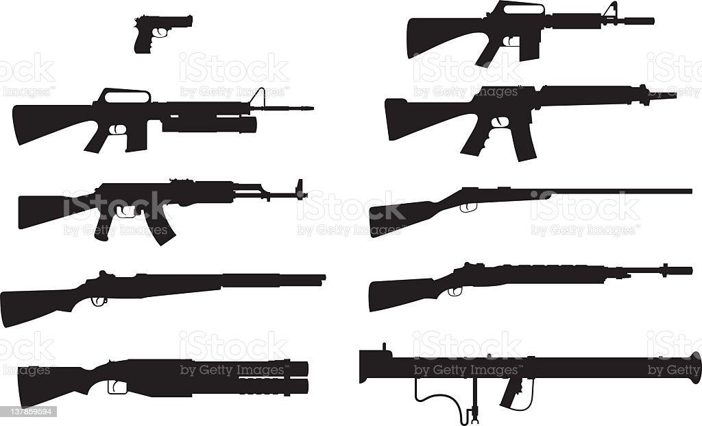 Guns royalty-free stock vector art