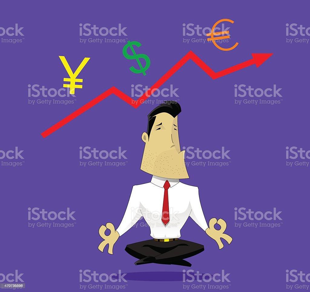 Guru of exchange rates vector art illustration