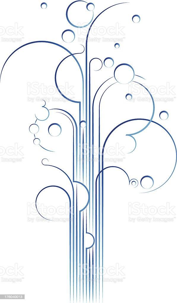 Gushy Lines vector art illustration