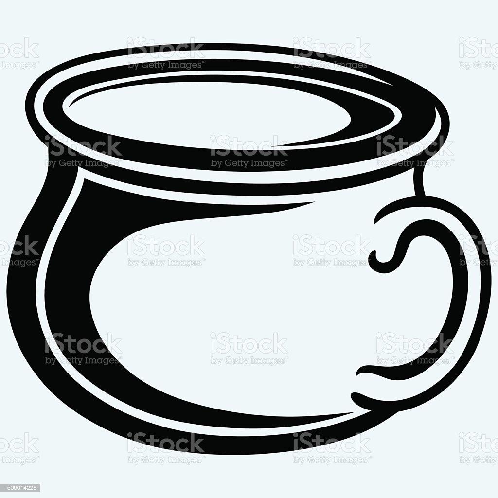 Gutbucket, pot vector art illustration