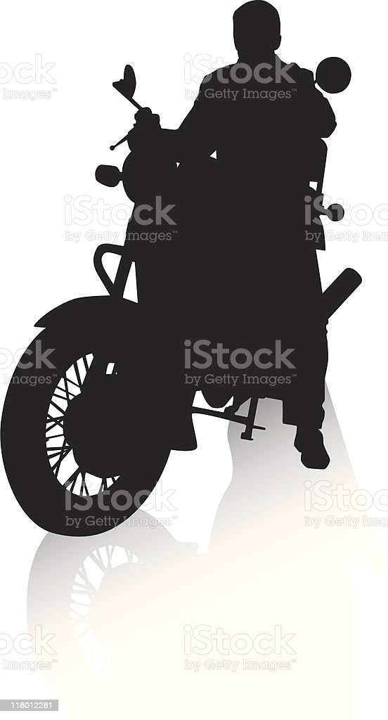 Guy on a motorcycle royalty-free stock vector art
