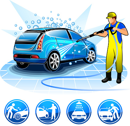 Auto Wash Clip Art, Vector Images & Illustrations