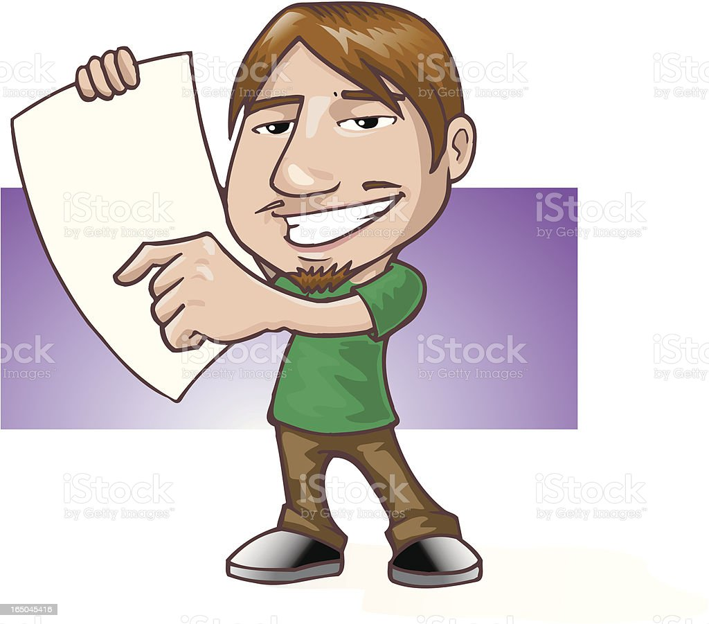 guy with a note royalty-free stock vector art