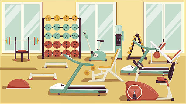 Gym equipment clip art vector images illustrations istock