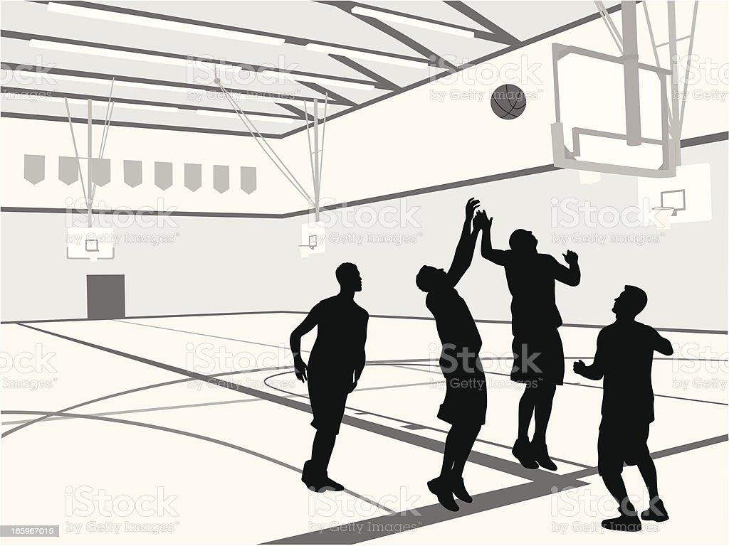 Gym Basketball vector art illustration