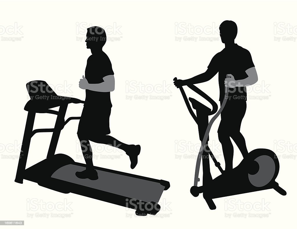 Gym Equipment Vector Silhouette royalty-free stock vector art