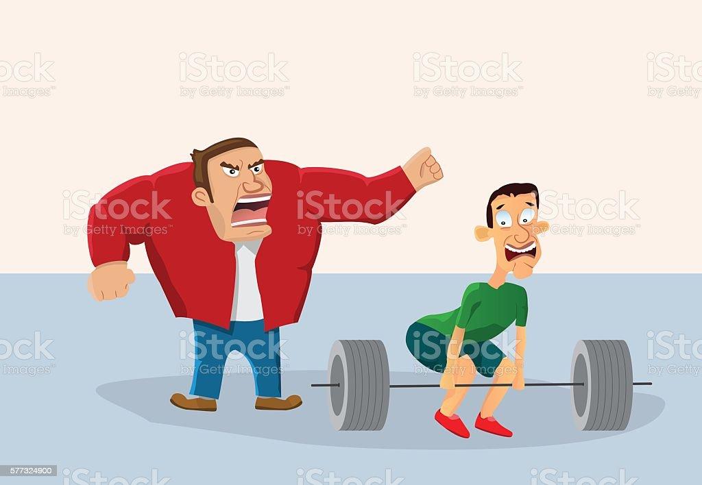 Gym exercises. vector art illustration